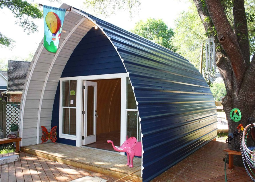 Prefabricated Arched Cabins can provide a warm home for ... on