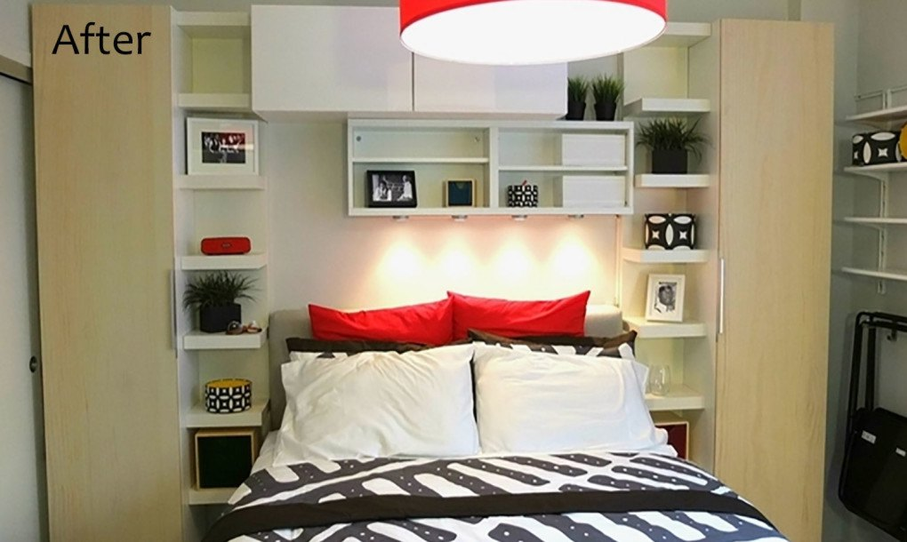 See ikea 39 s smart makeover of this 300 sq ft bronx studio 300 square feet apartment