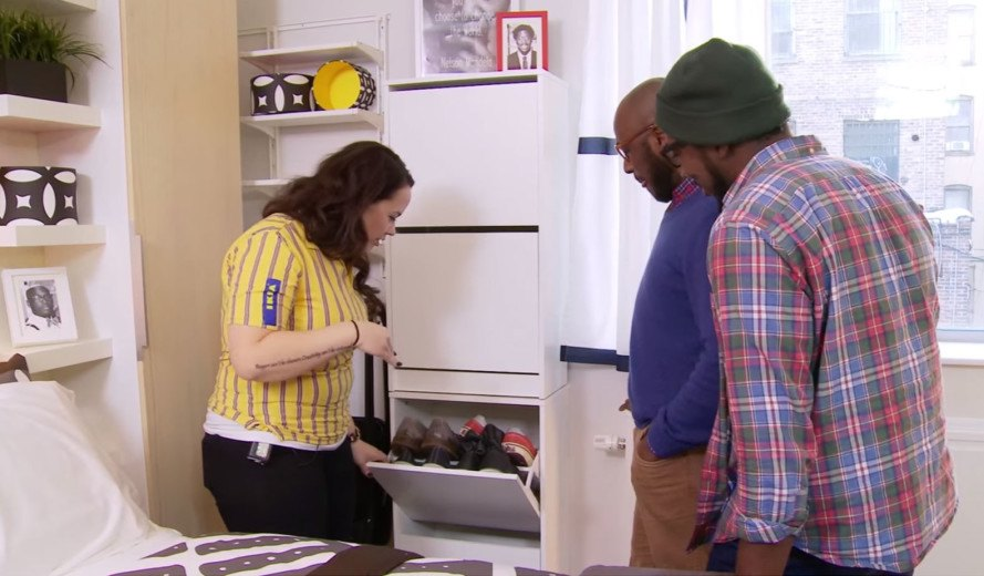 See Ikea S Storage Maximizing Makeover Of A 300 Sq Ft Studio Apartment In The Bronx