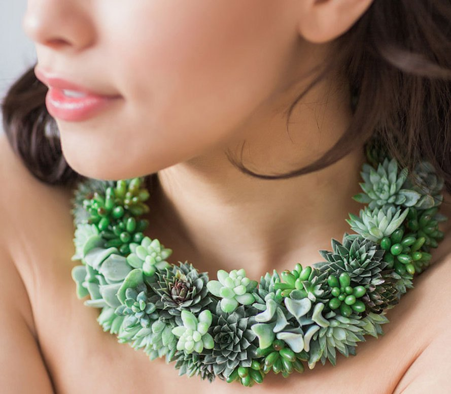 susan mcleary, succulent jewels, succulent jewelry, wearable plant jewelry, passionflowermade, floral design, jewelry design, sustainable jewelry, green jewelry, special occasion jewelry