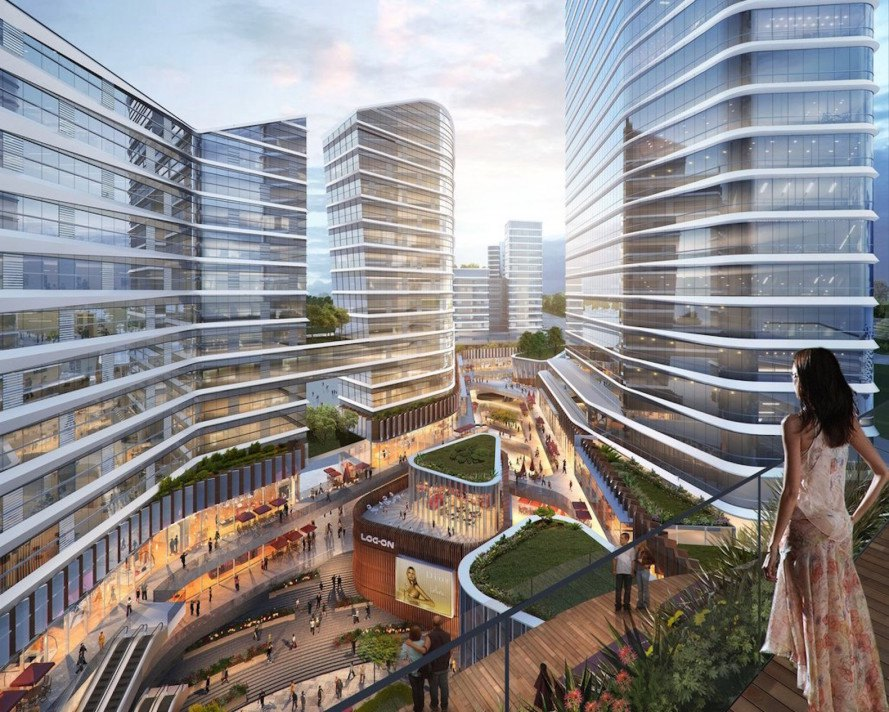 TODTOWN, pedestrian friendly space, mixed use development, Shanghai, Minhang district, Goettsch Partners, Lead 8