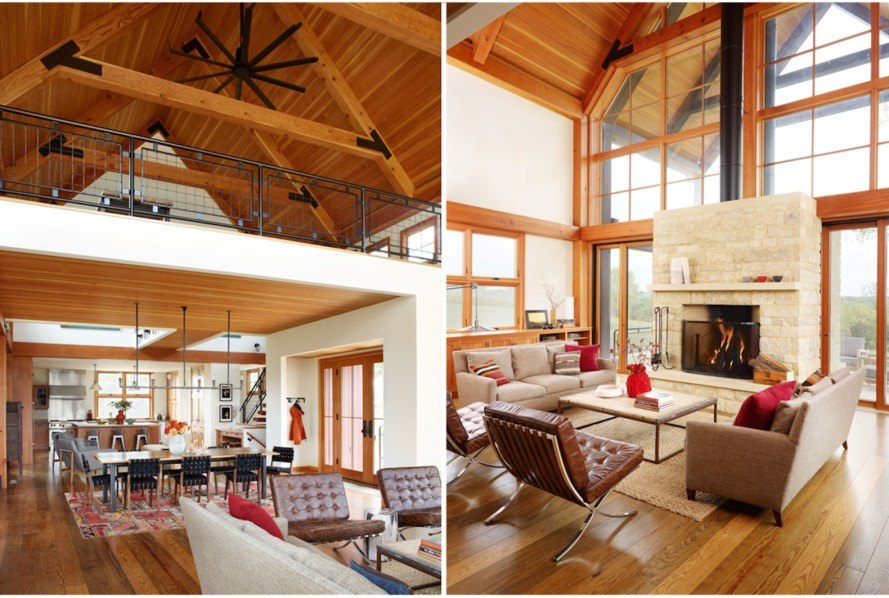 barn-inspired architecture, barn-inspired home, salvaged materials, recycled materials, solar powered home, Northworks, Thistle Hill Farm, Squak Mountain Stone, The Rug Company