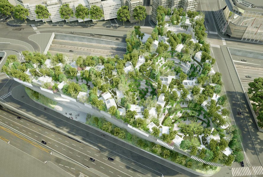 Sou Fujimoto Architects, Manal Rachdi OXO Architects, Paris, Thousand Trees, residential development, green roof, green architecture, social housing, design competition, urban regeneration