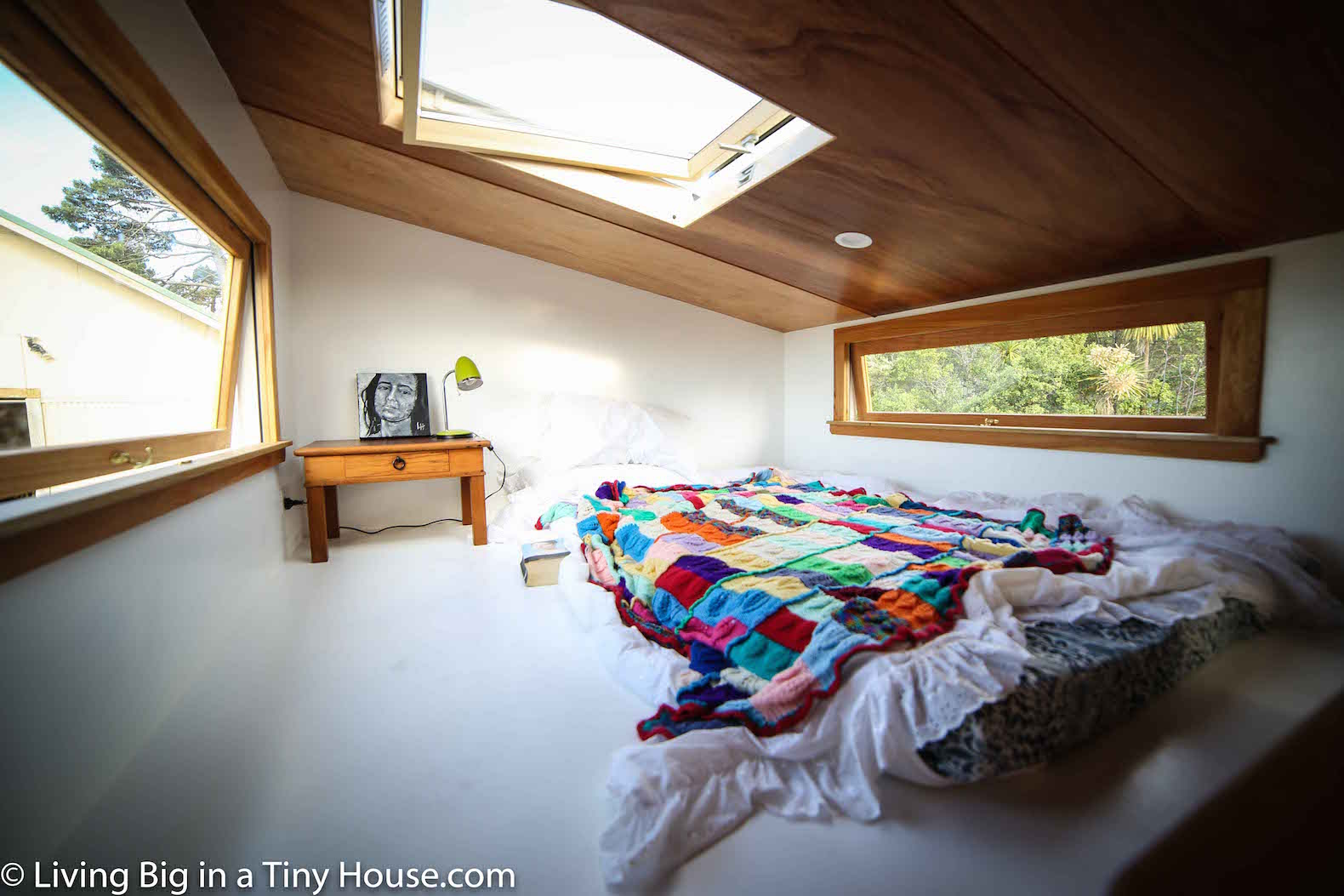 Big House Inside Bedroom luxurious tiny home in new zealand is off-grid and 100% self