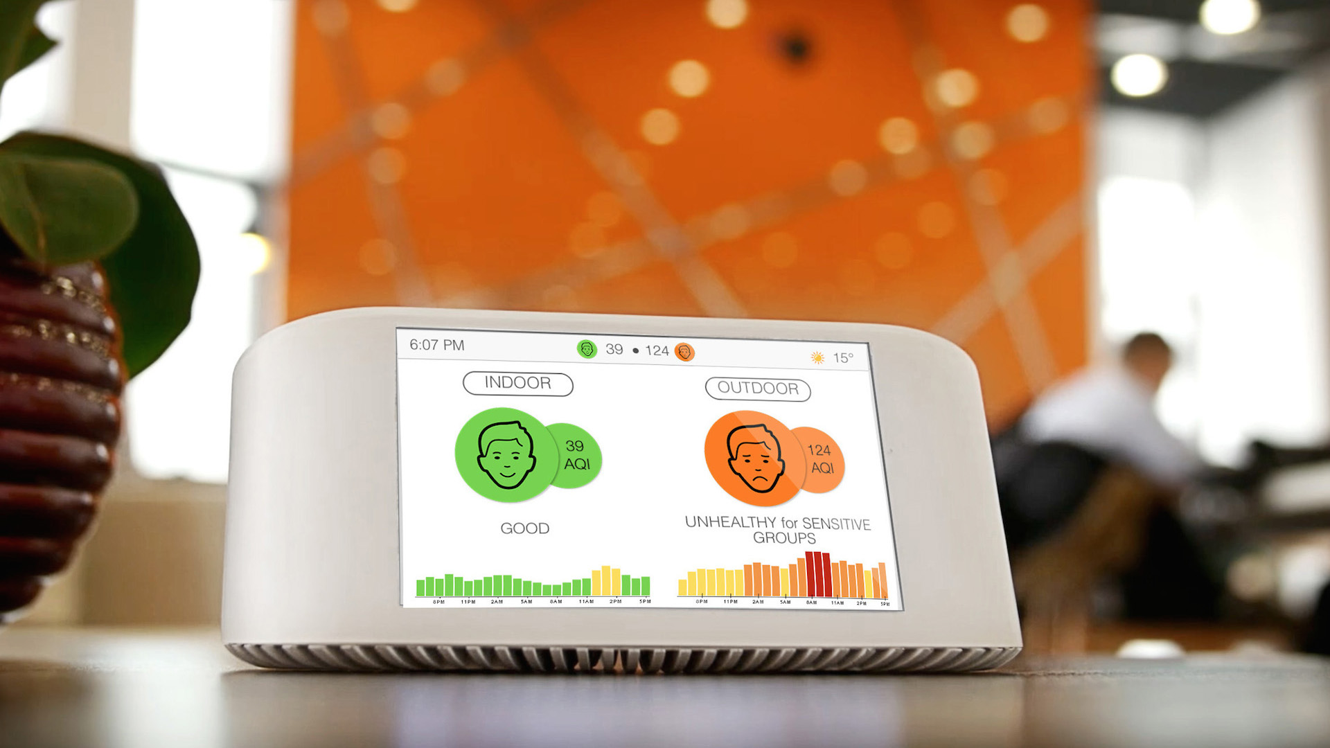 This pint-sized monitor helps you determine the air pollution levels in your immediate environment