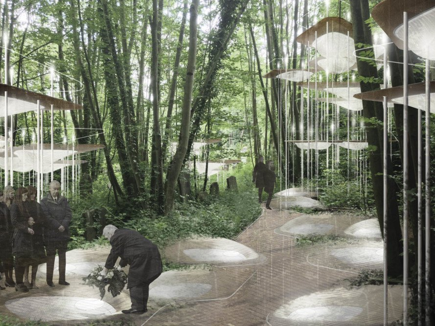 DeathLab, futuristic cemetery, Columbia University, Arnos Vale, environmentally friendly, burial site, Sylvan Constellation