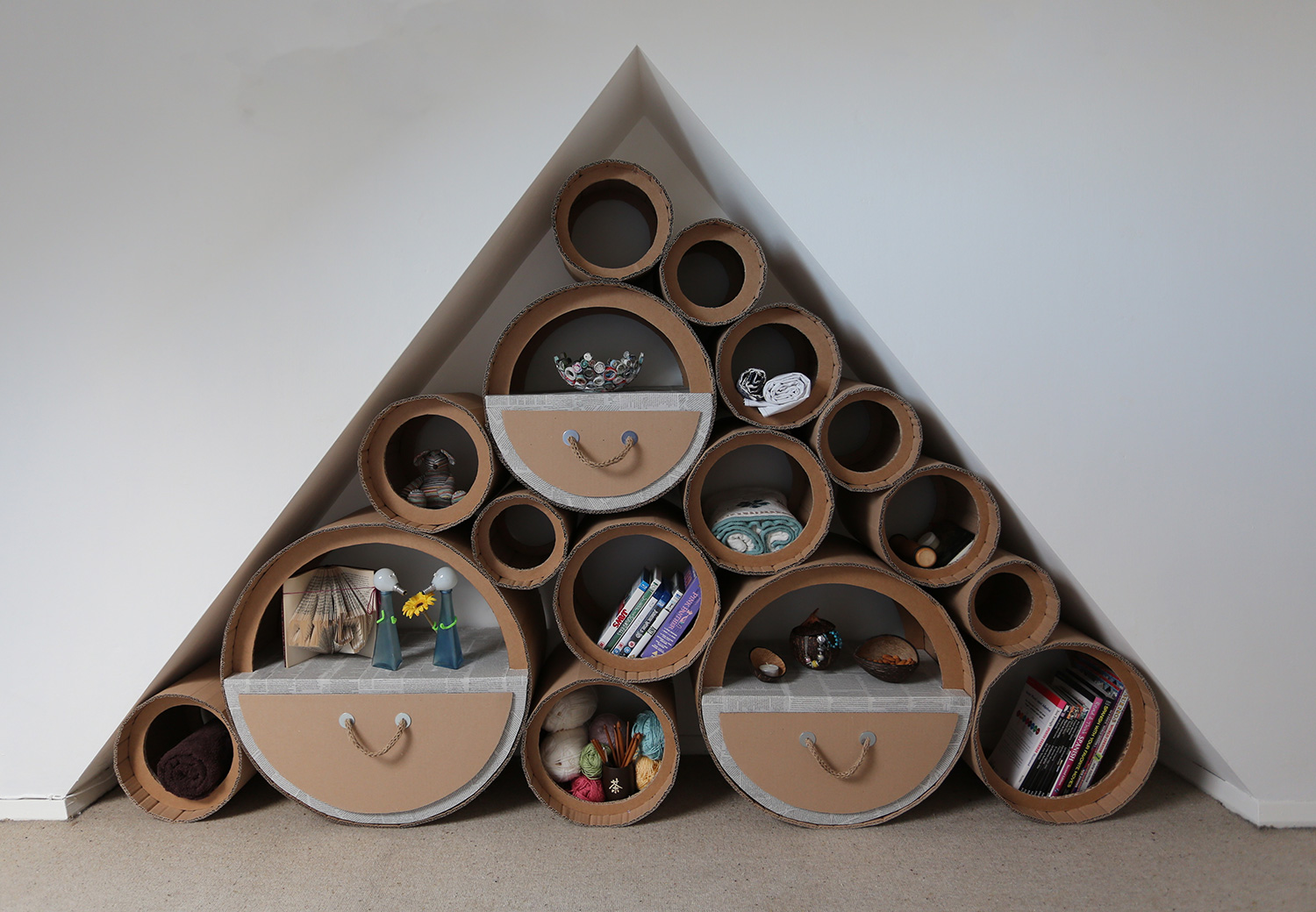 Our greener future turns food waste and cardboard into for Home decoration from waste things