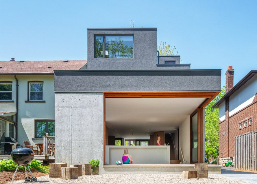 Bala Line Home by Williamson Chong Architects, Toronto modern infill, naturally cooled architecture, sculpture home Toronto