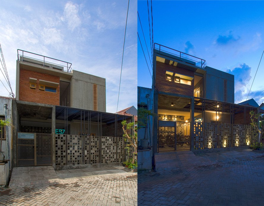 Bioclimatic Boarding House by Andyrahman Architect, Bioclimatic architecture, bioclimatic boarding house, bioclimatic architecture in indonesia, low-cost bioclimatic house