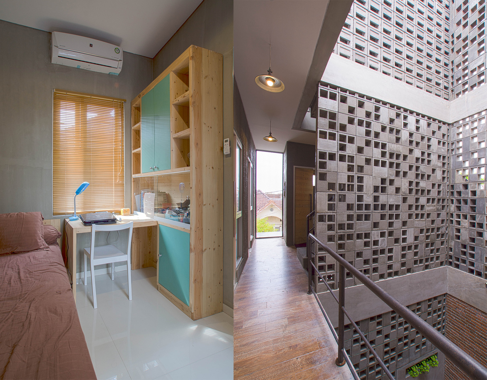 bioclimatic boarding house keeps naturally cool in tropical