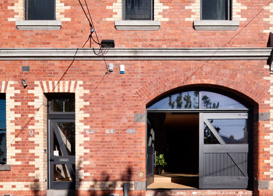 warehouse conversion, warehouse renovation, Melbourne, Andrew Simpson Architects, green renovation, natural light, skylights, red brick warehouse, green architecture, exposed ceiling, flexible layout