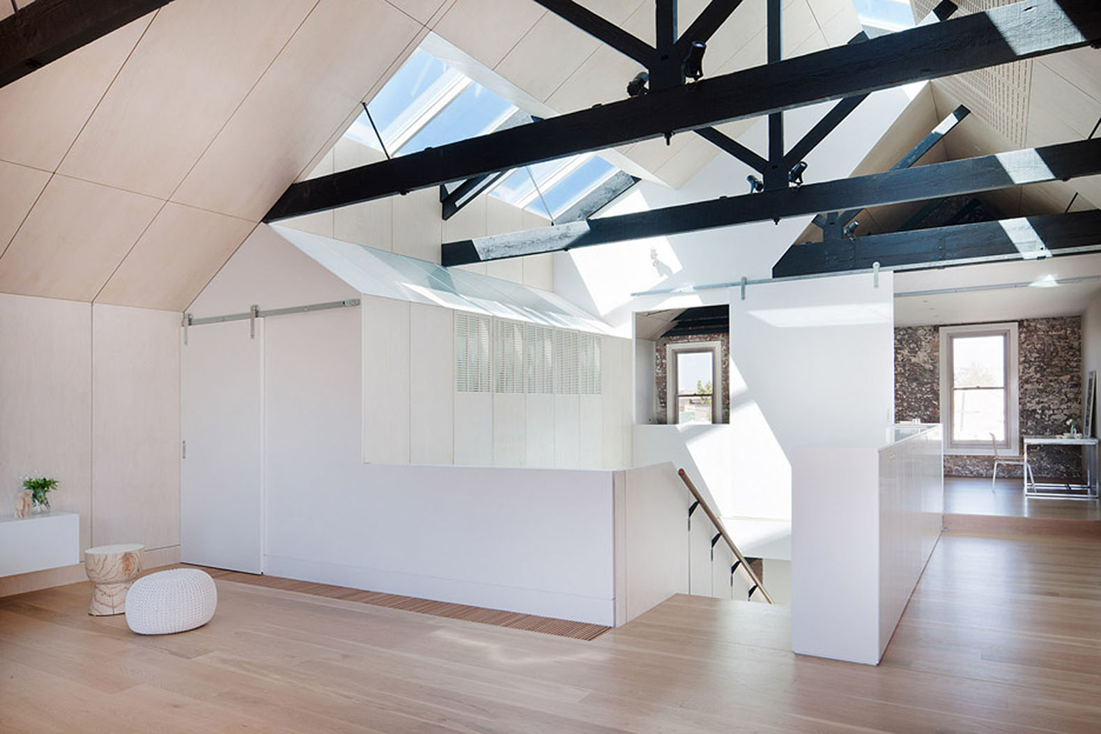 Neglected Brick Warehouse Converted Into A Daylit Home For