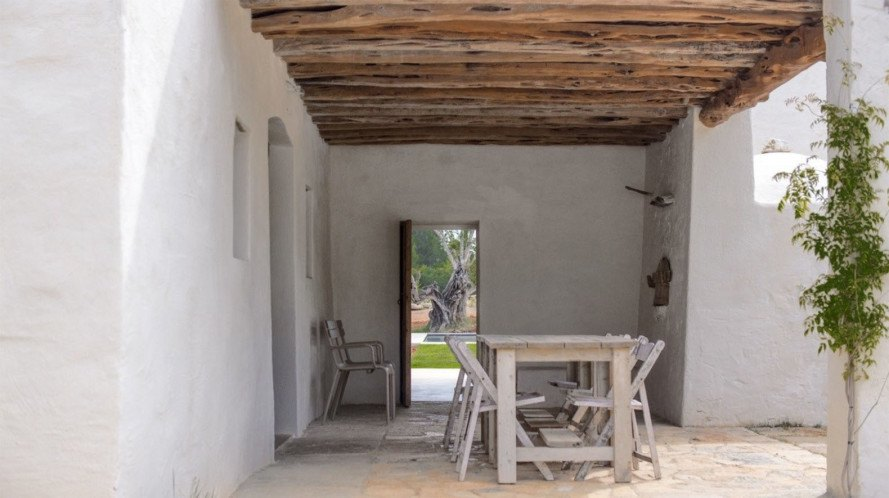 Angela Molina, Can Basso, Can Basso Ibiza, Ibiza finca, Ibiza farmhouse, renovated farmhouse, renovated farmhouse Ibiza, green renovations, rainwater collection, daylighting, natural ventilation, remodeled home, green remodel in Ibiza, Francis Dimmers,