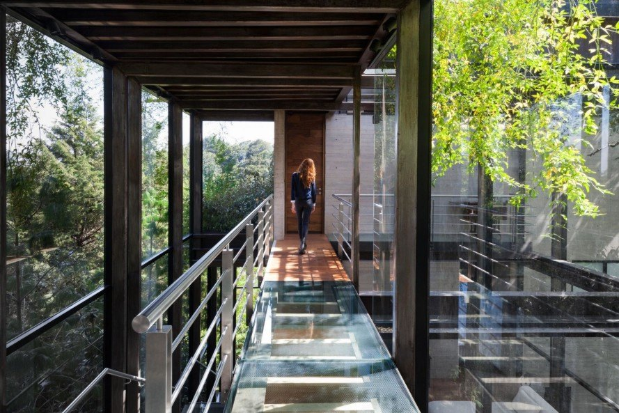 La Casa en el Bosque, The House in the Woods, contemporary design, green design, green homes, green architecture, waste water recycling, waste water filtration, solar power, solar management, Grupoarquitectura, Grupo Arquitectura, sustainable homes, sustainable house, contemporary meets nature
