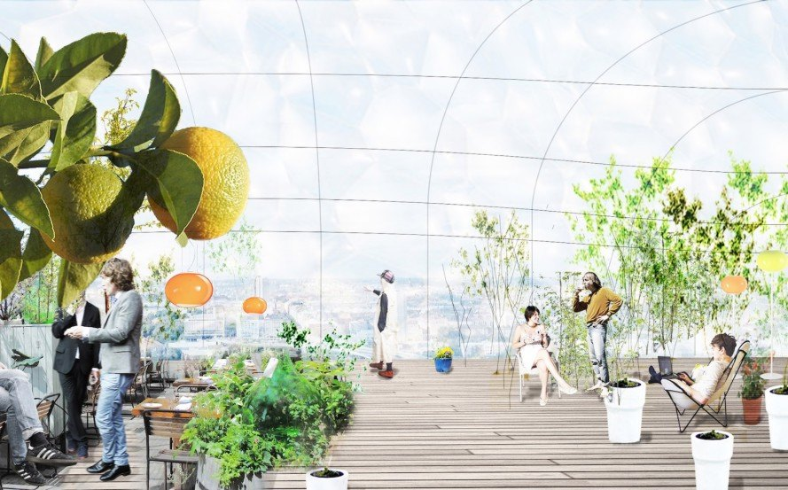 Stockholm government architecture, ETFE architecture, Drivhus by SelgasCano and U.D. Urban Design AB, avant garde government building design,