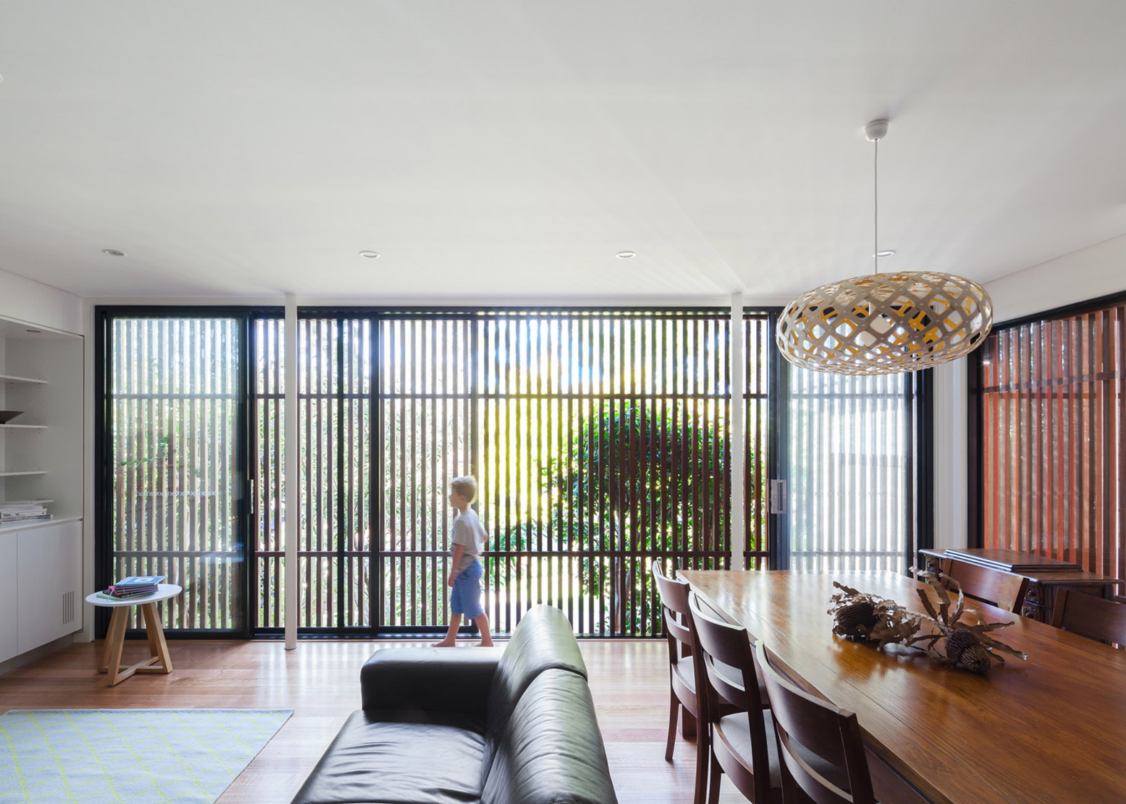 Mid Century Bungalow Sydney Wrapped Stunning Slatted Wood Screen