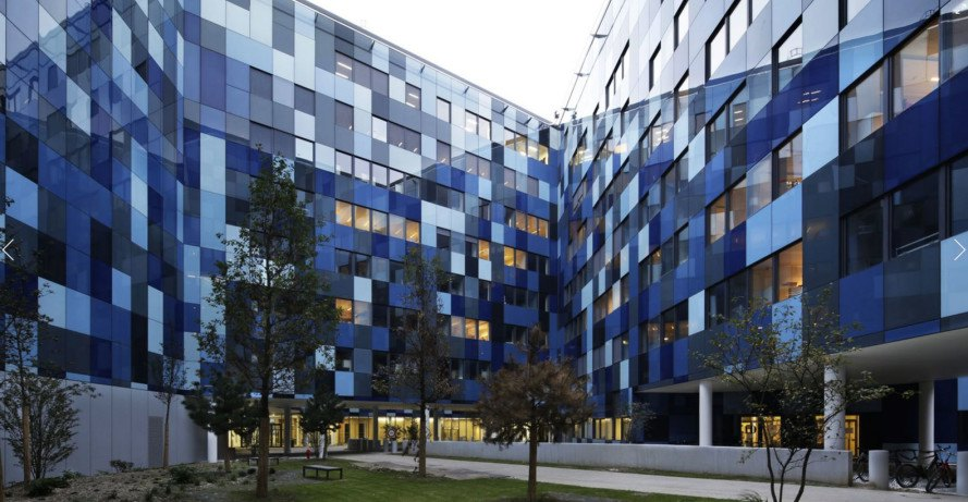 Agence Nicolas Michelin & Associés, Hexagone Balard, French Department of Defense HQ, green campus, green architecture, Paris, origami-shaped structure, solar glass, metal panels