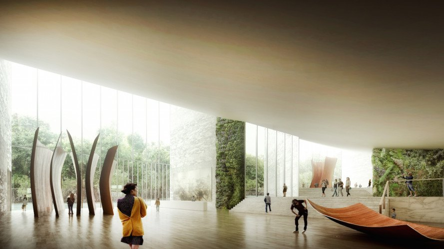 Gaoyao project by Schmidt Hammer Lassen Architects, Feng Shui-inspired architecture, new Gaoyao development, Chinese clubhouse architecture, Chinese gallery architecture