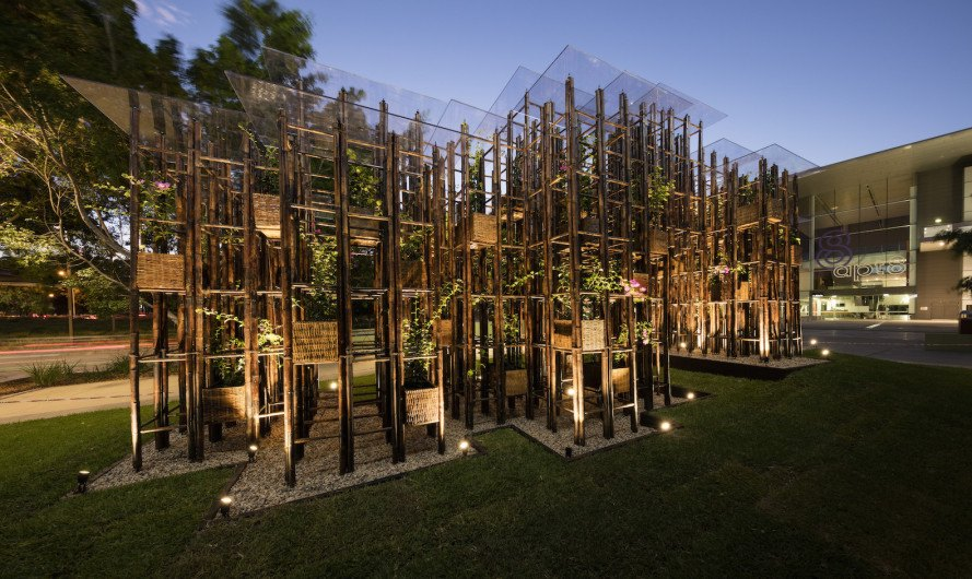 Green Ladder by Vo Trong Nghia Architects, bamboo architecture by Vo Trong Nghia Architects, Sherman Contemporary Art Foundation, Fugitive Structures by Sherman Contemporary Art Foundation