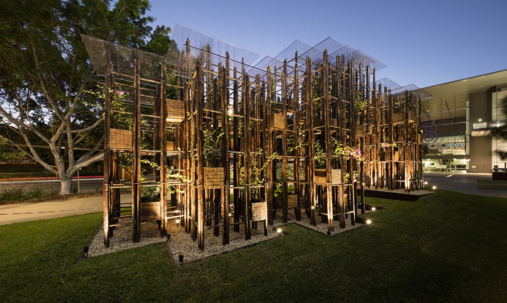 Vo Trong Nghia S Green Ladder Pavilion Turns Bamboo Into