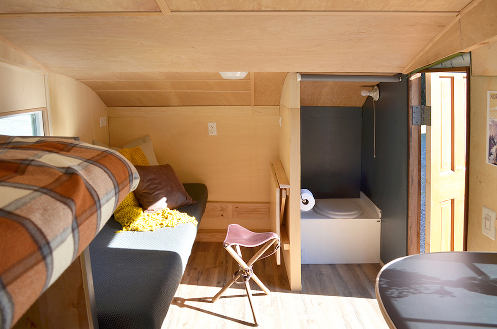 Charming wood teardrop trailer is perfect for offgrid eco
