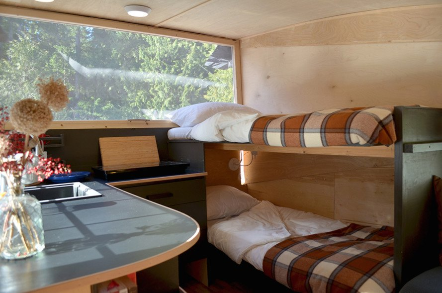 Homegrown Trailers, eco-friendly travel trailer, sustainable travel trailer, off-grid travel trailer, off-grid camper, solar-powered camper, solar-powered teardrop trailer,