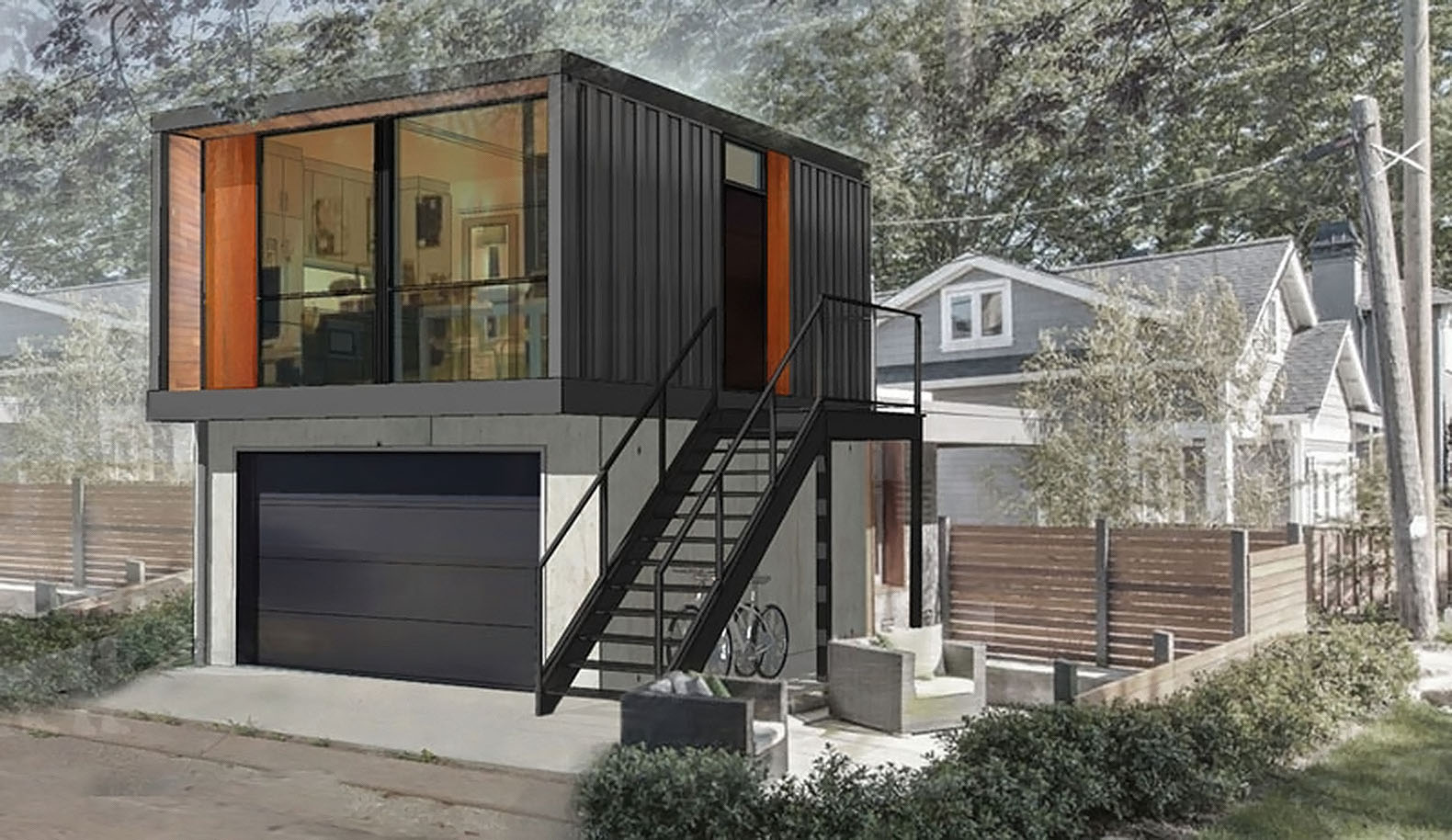 You can order HonoMobos prefab shipping container homes online