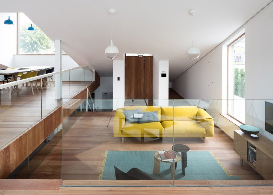 House Pibo, OYO architects, Belgium, green roof, underground house, natural light, green architecture, split levels