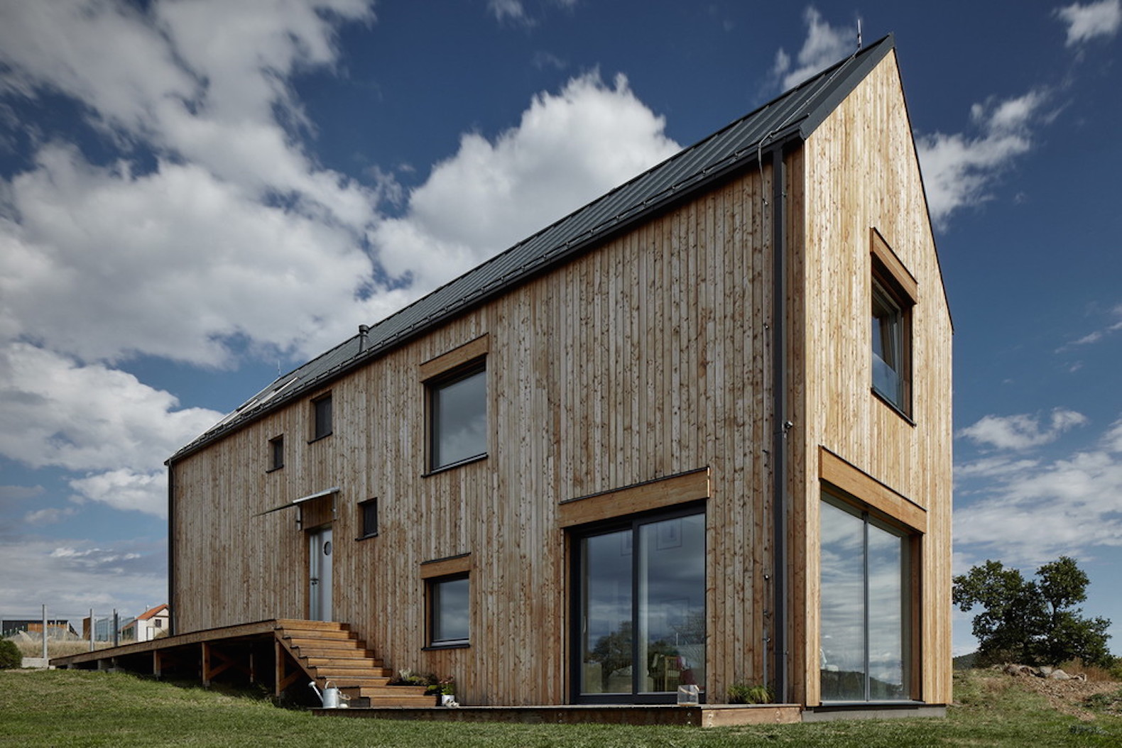 Barn-inspired Markétka House in the Czech countryside will age beautifully over time