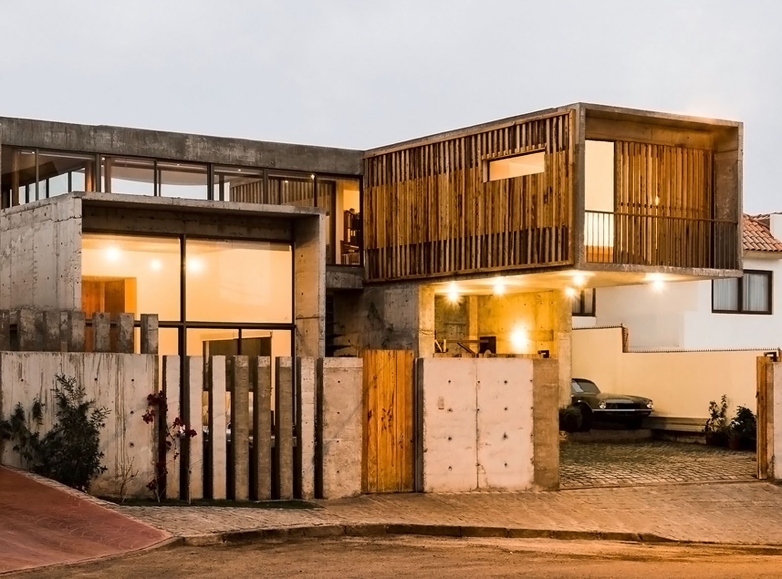 gorgeous jardines del sur house combines concrete glass and native wood from the south of chile