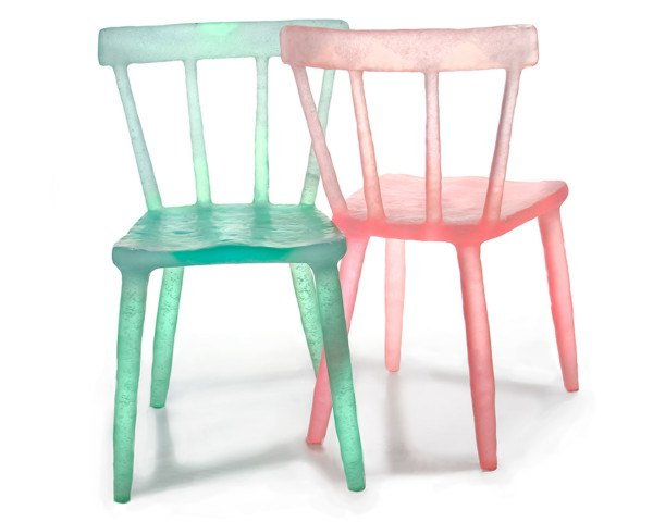 kim markel, kimberly markel, recycled chairs, recycled design, architectural digest design show, ad home show, green furniture, eco furniture, translucent chair, recycled chairs, interior design
