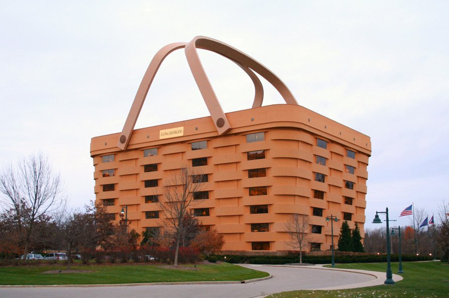 basket building, ohio basket building, ohio landmark, londaberger, londaberger building, londaberger basket, baskets, foreclosure