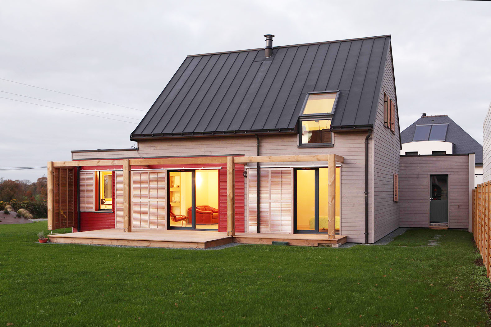 Sweet pitched roof house in France gets a green makeover with bio-sourced materials