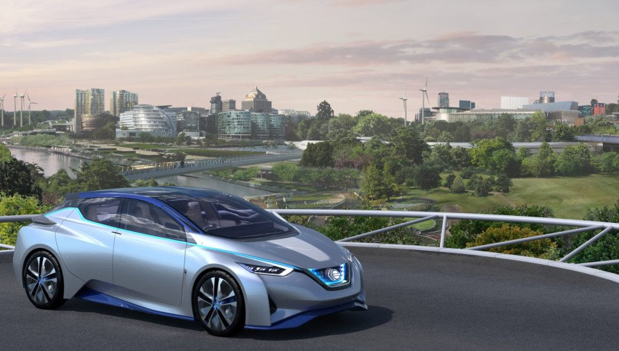 Nissan, Foster + Partners, Fuel Station of the Future, 2016 Geneva Motor Show, Geneva Motor Show, Nissan Leaf, Nissan IDS Concept, electric car, green car, green transportation, urban planning, autonomous driving technology, piloted driving technology, electric motor