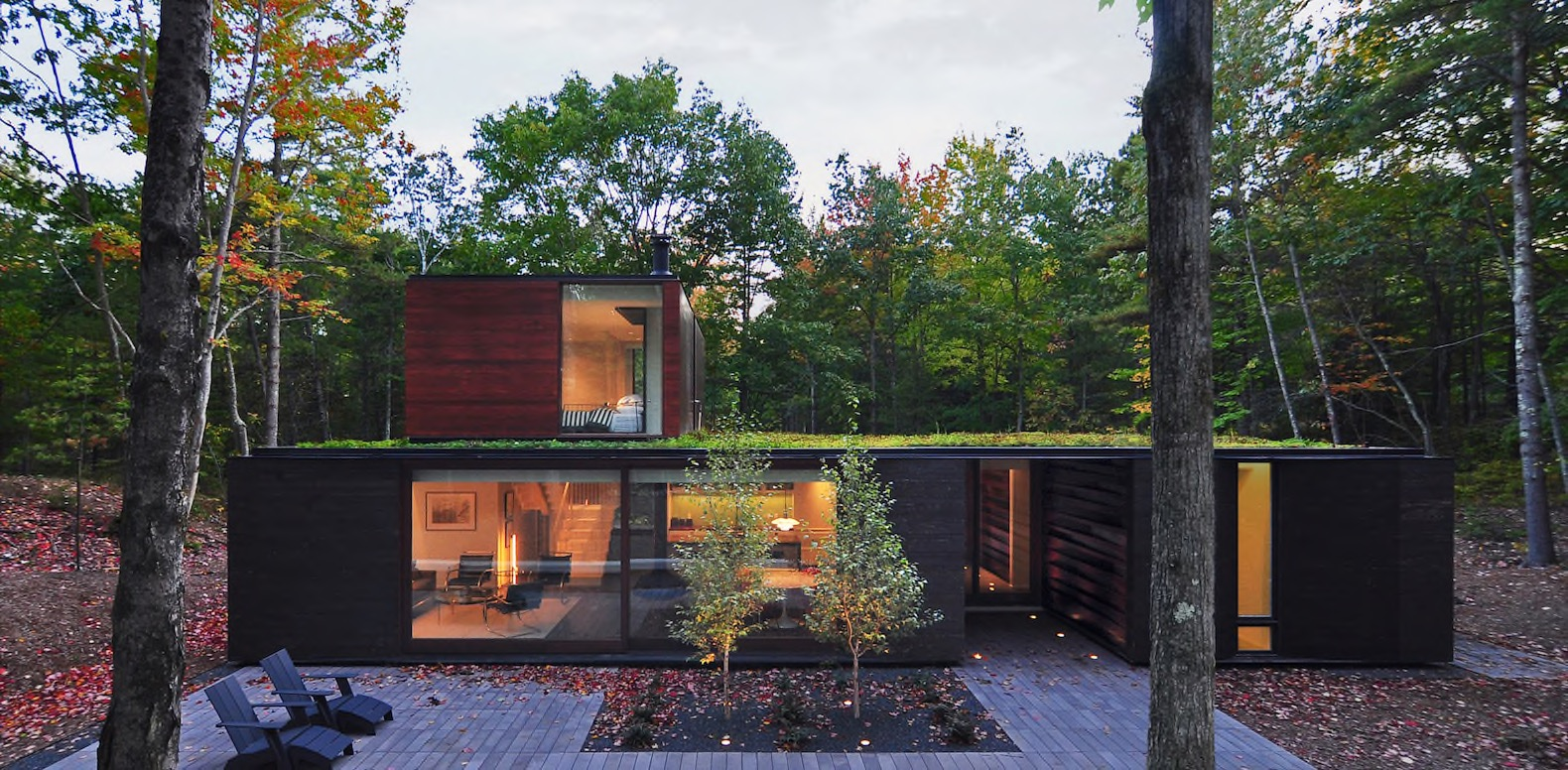 Beautiful Green Roofed Home Is Nestled Deep Inside Wisconsinu0027s Forests