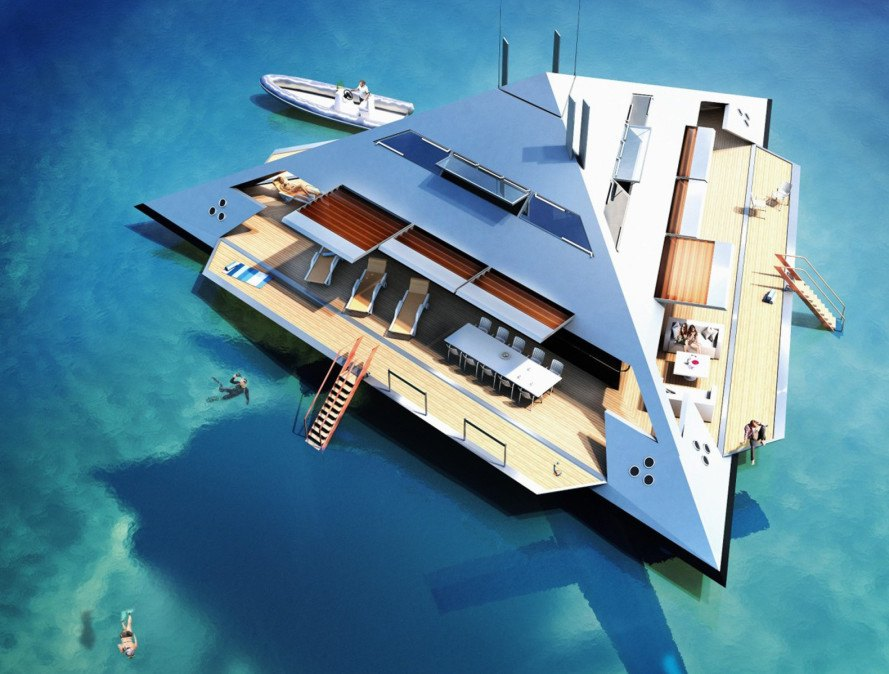 hydrofoil, superyacht, jonathan schwinge, schwinge yachts, Maritime Applied Physics Corporation, high speed yacht, transforming yacht, transforming watercraft