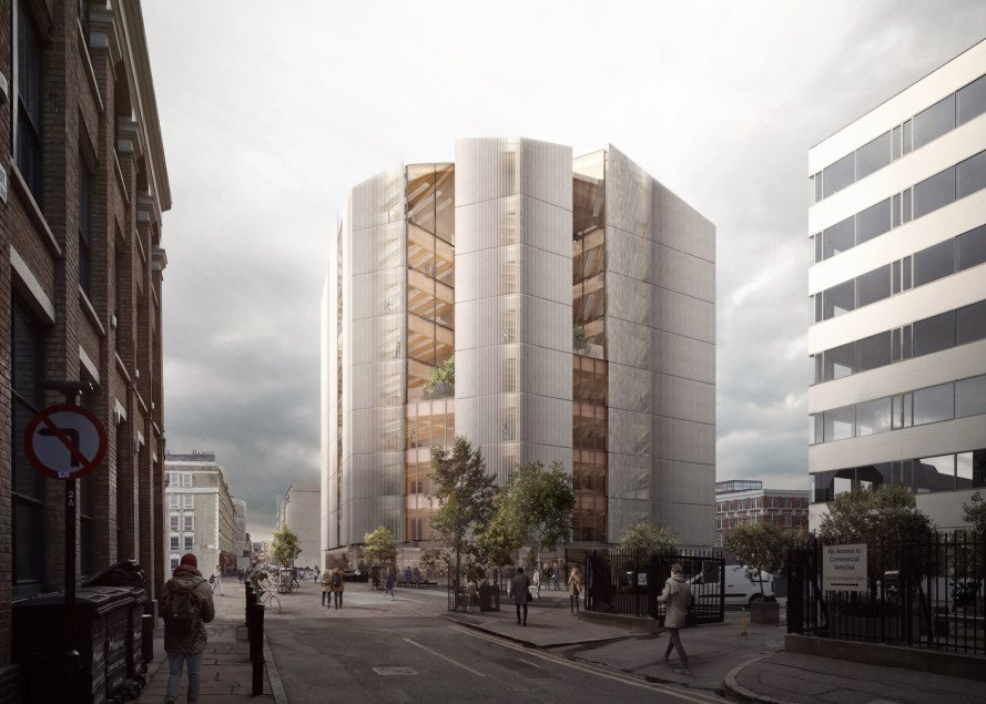 Waugh Thistleton, timber structure, London, cross-laminated timber, glued laminated timber, glulam, green building materials, timber building, green architecture