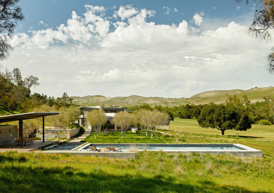 Spring Ranch by Feldman Architecture, LEED Gold Spring Ranch, Hollister architecture, net zero holiday home, net zero California architecture, LEED Gold California architecture,
