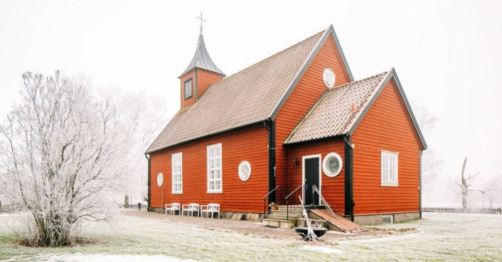 Swedish chapel transformed into an incredible cottage that's selling for peanuts