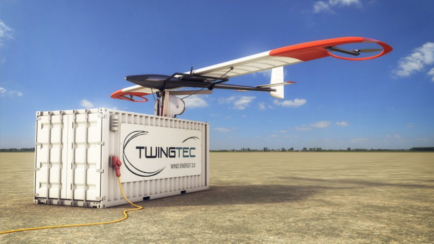 twingtec, tethered wing, wind power, wind turbine, kite power, shipping container, clean energy, deployable clean energy, off-grid, remote locations, remote energy generation