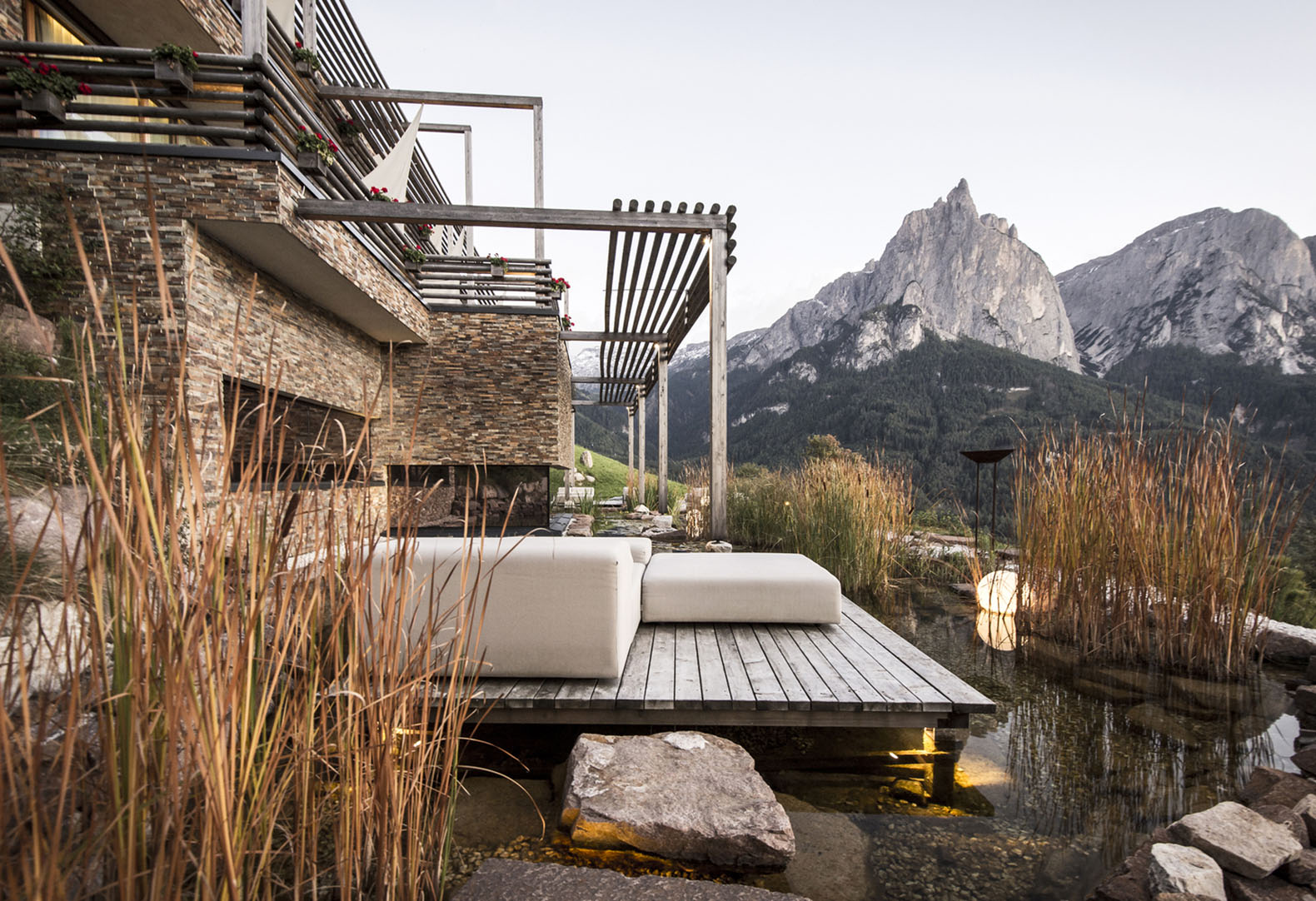 The suites at the spectacular Valentinerhof Hotel make you feel like you are sleeping outside