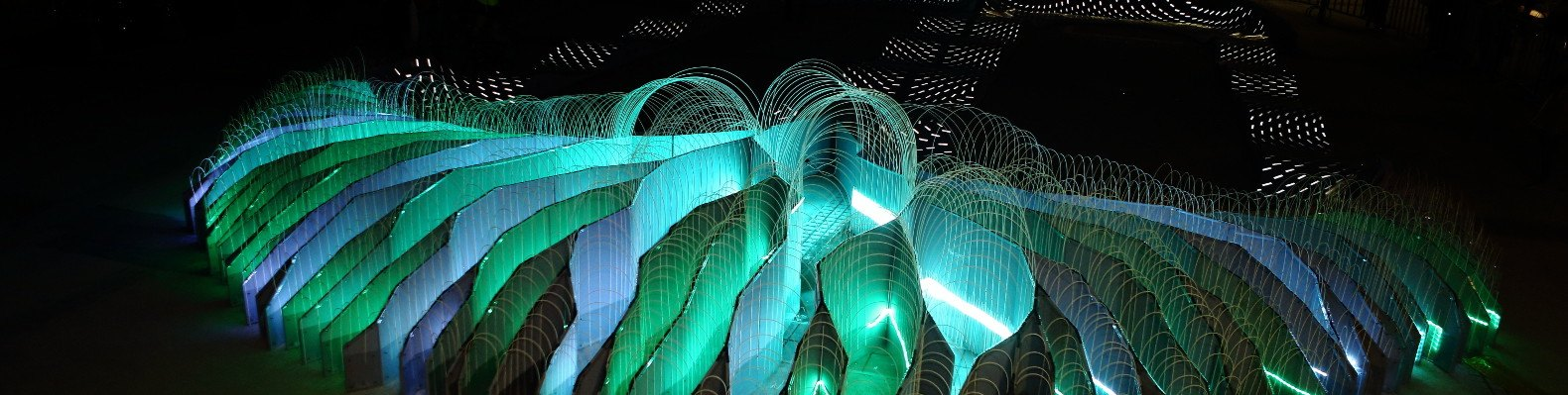 BMX track features lung-shaped LED lights that change color based on ...