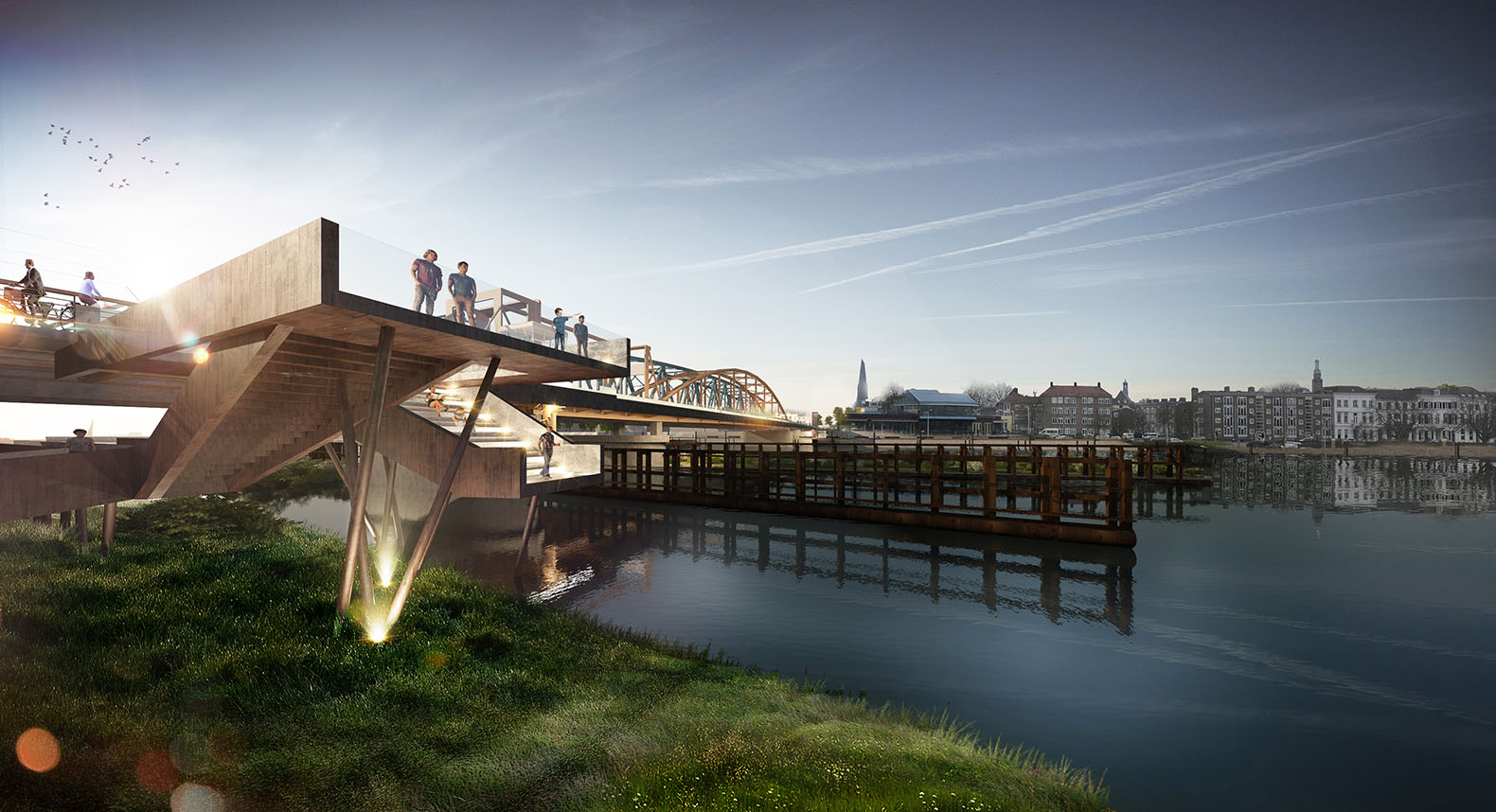 Old bridge renovation in the Netherlands to make even more room for cyclists and pedestrians ...