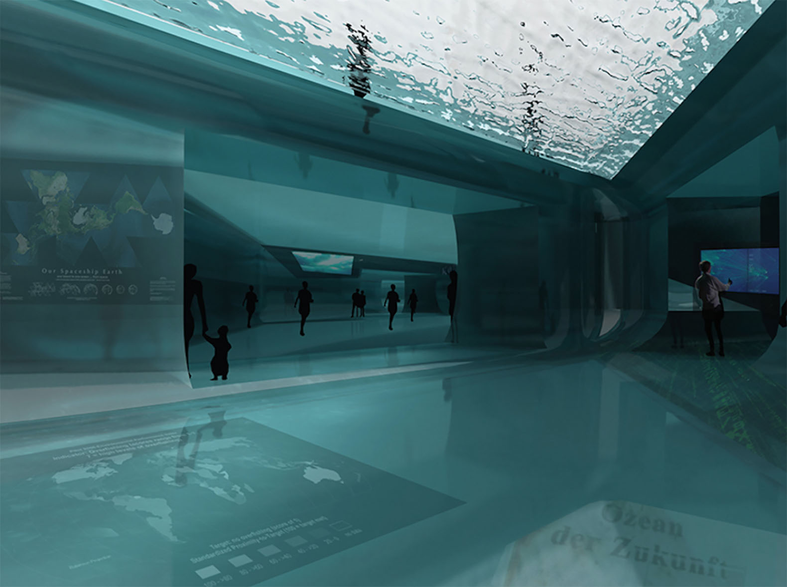 Water Art Structures : Intentionally unstable water pavilion lets visitors walk