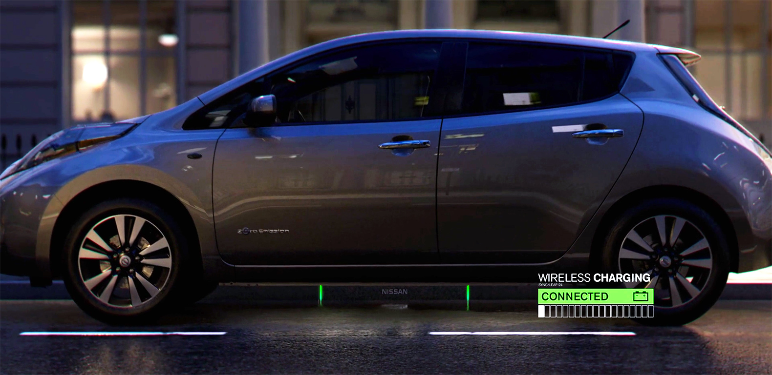 The Fuel Station of the Future will wirelessly charge your self-driving car with solar energy