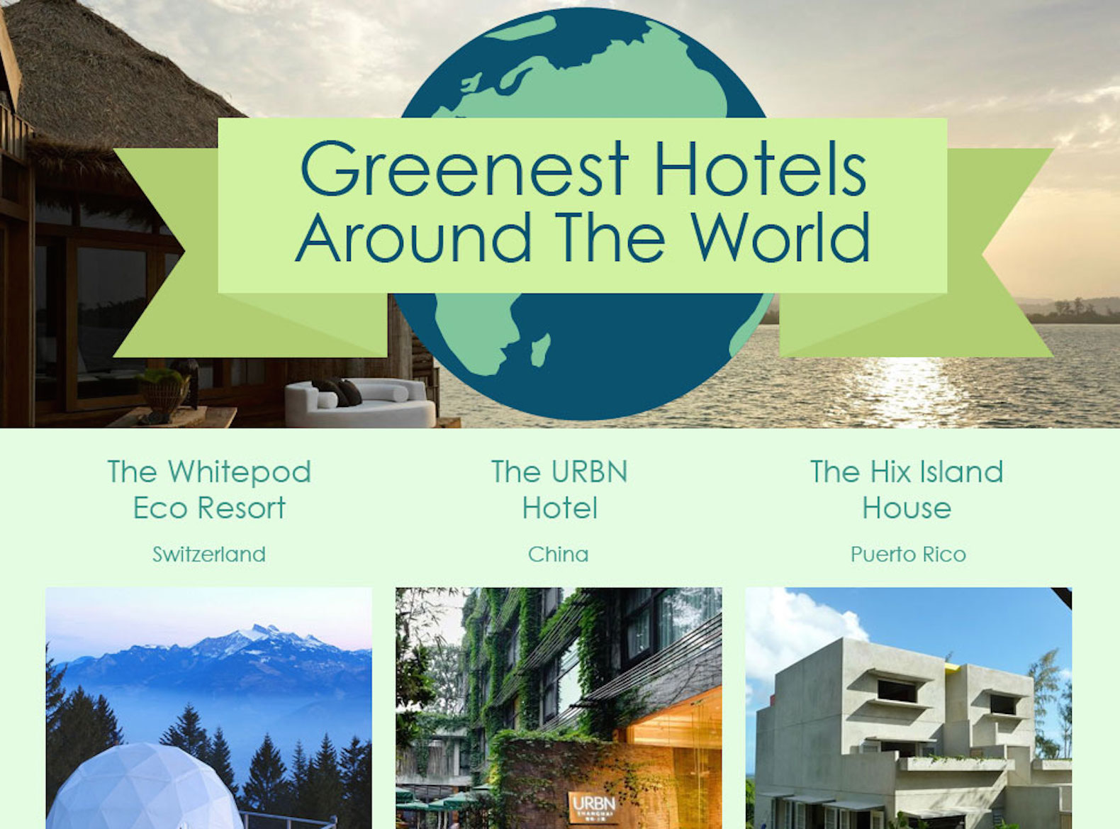 Top 20 greenest hotels from around the world inhabitat for Top 20 hotels in the world