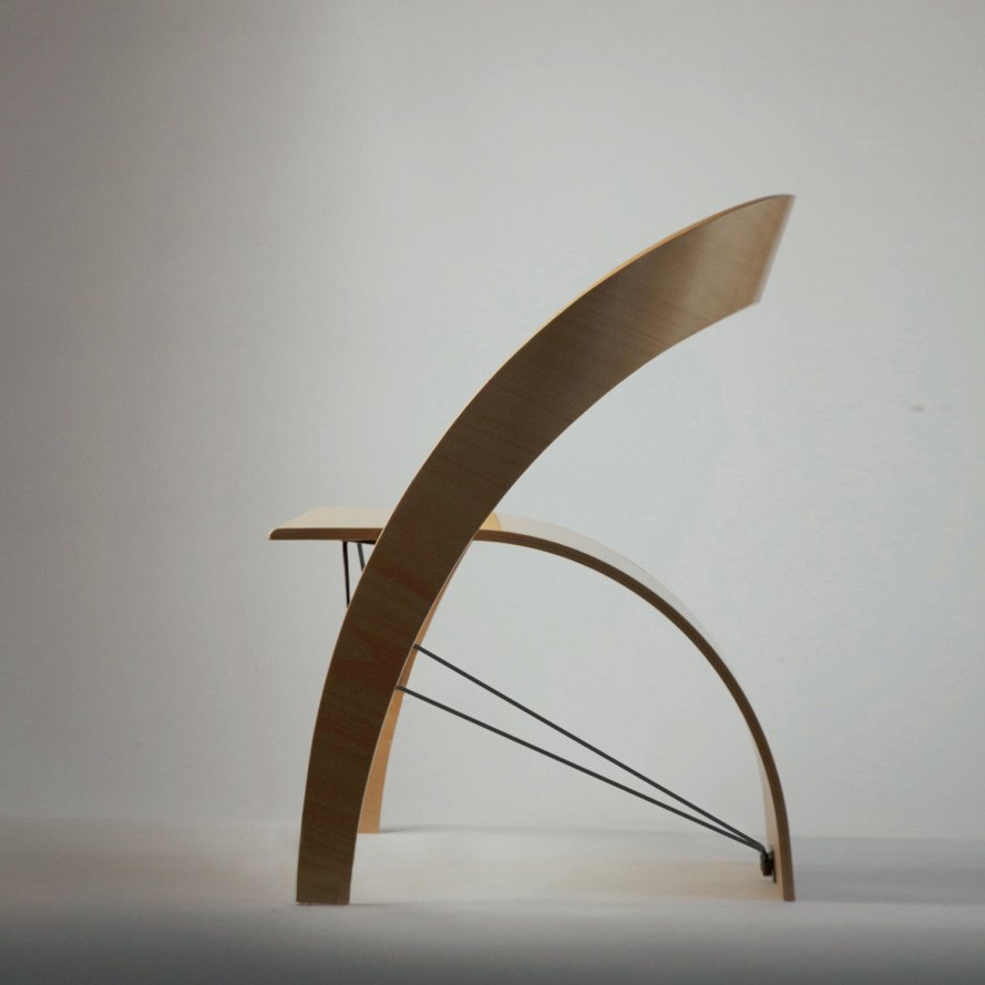 Counterpoise is an elegantly balanced plywood chair