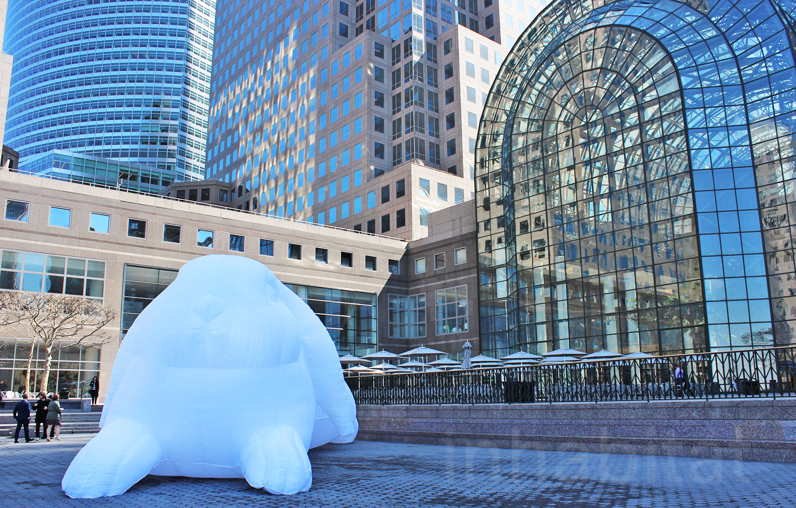 these 5 story tall glowing bunnies will be invading downtown new