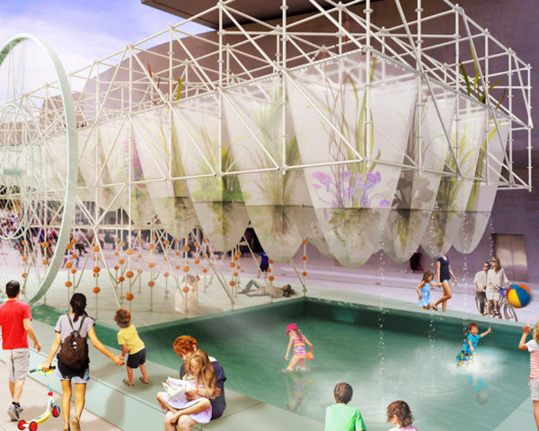 Albula by deltastudio, YAP MAXXI 2016 finalist project, open source water purification, open source water urban installation, urban installation with phytoremediation, MAXXI urban design project