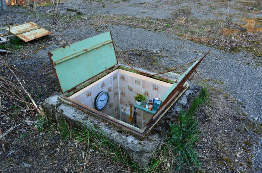 Biancoshock, Borderlife, Biancoshock Borderlife, miniature homes, miniature spaces, political art, art, street art, sewer homes, underground homes